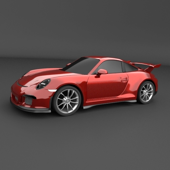 Porsche Carrera 911 GT3 sports car restyled - 3DOcean Item for Sale
