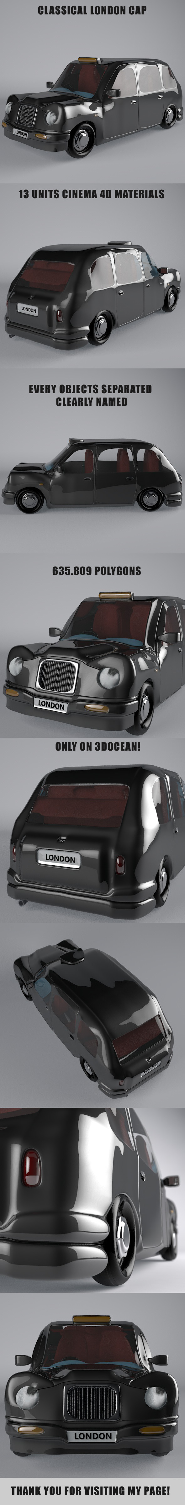 Classical London Taxi - 3DOcean Item for Sale