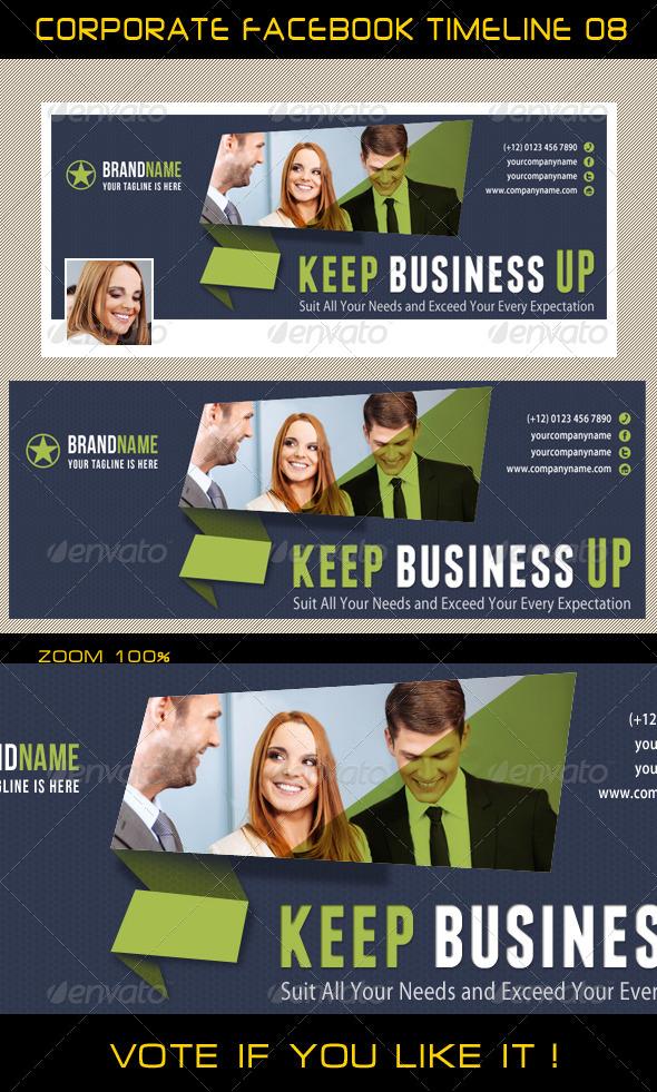 Corporate Facebook Timeline 08 - Facebook Timeline Covers Social Media
