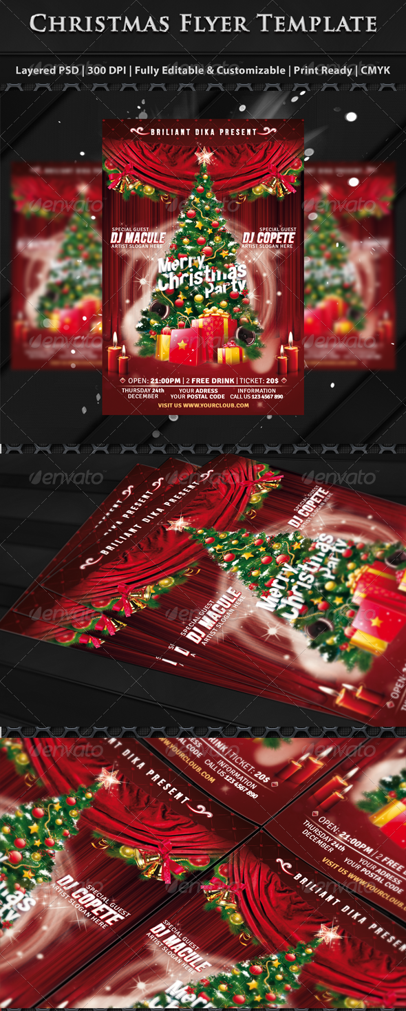 Christmas Party Flyer Templates - Clubs & Parties Events