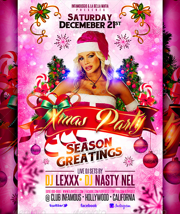 Christmas Flyer Xmas Party By Infamousgio Graphicriver