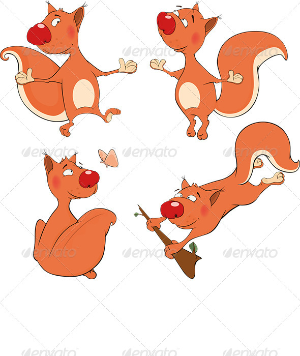 The Squirrels Clip Art - Animals Characters