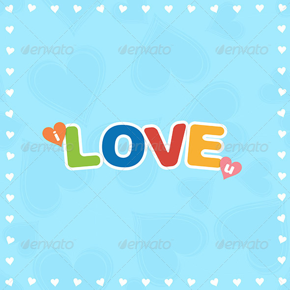 Colorful I Love You - Abstract Conceptual