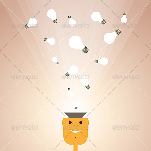 Man with Ideas - People Characters