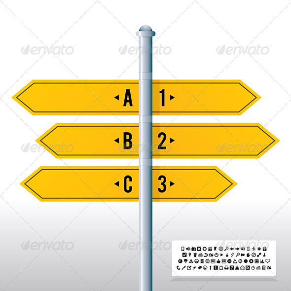 Road Sign Label Banner Background - Backgrounds Decorative