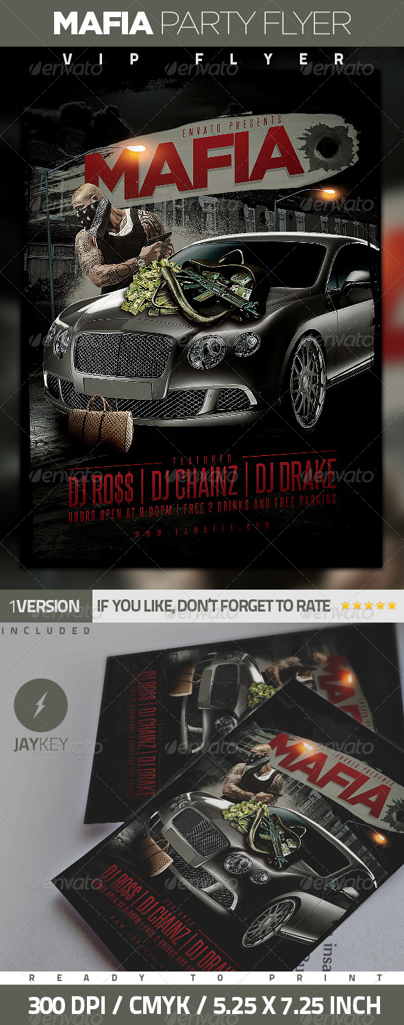 Mafia Urban Party Flyer - Clubs & Parties Events