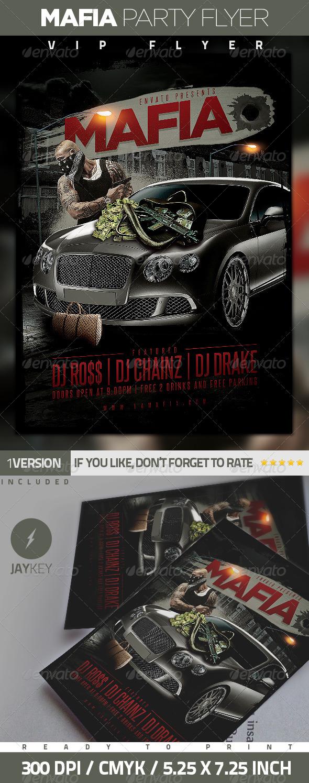 Mafia Urban Party Flyer