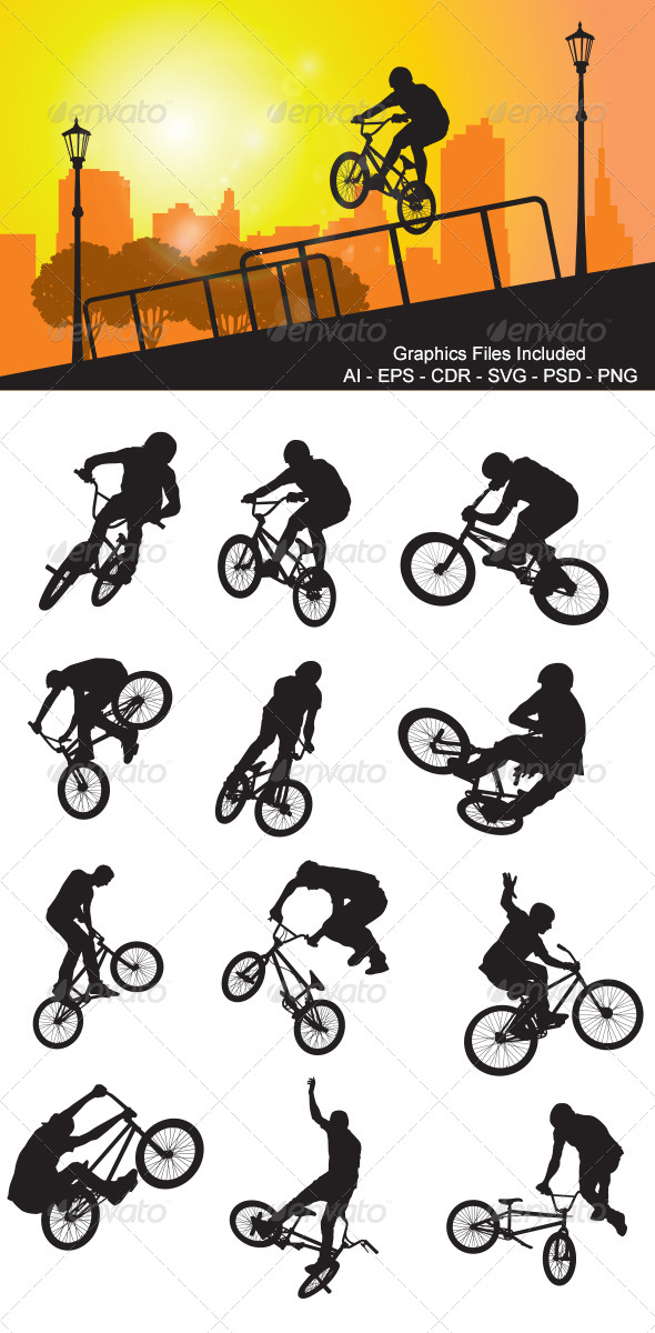 Freestyle Cycling - Sports/Activity Conceptual