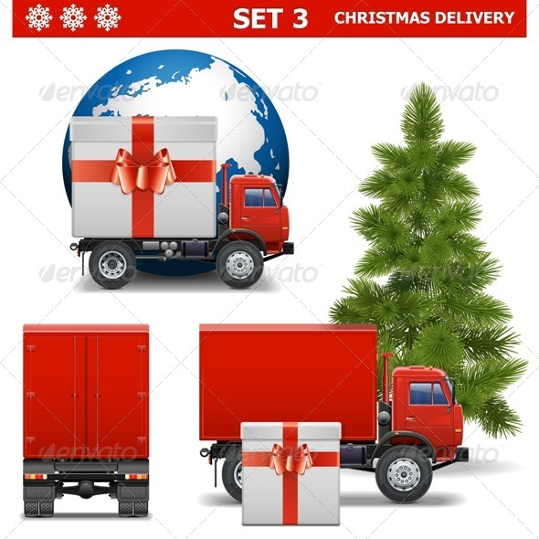 Vector Christmas Delivery Set 3 - Christmas Seasons/Holidays