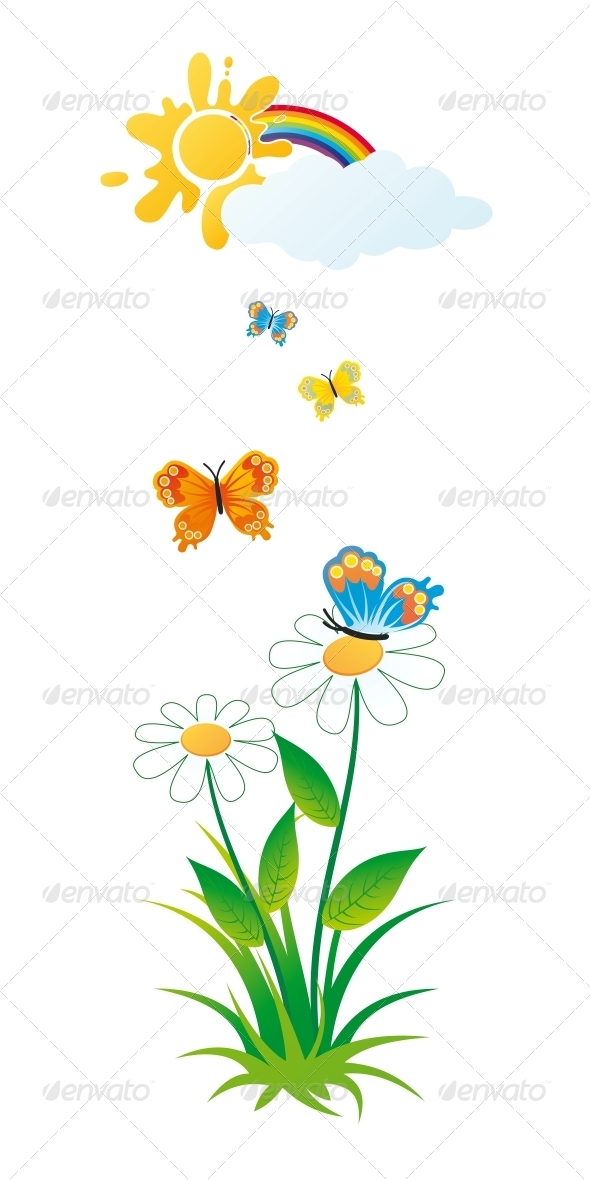 Butterflies and Flowers - Seasons Nature