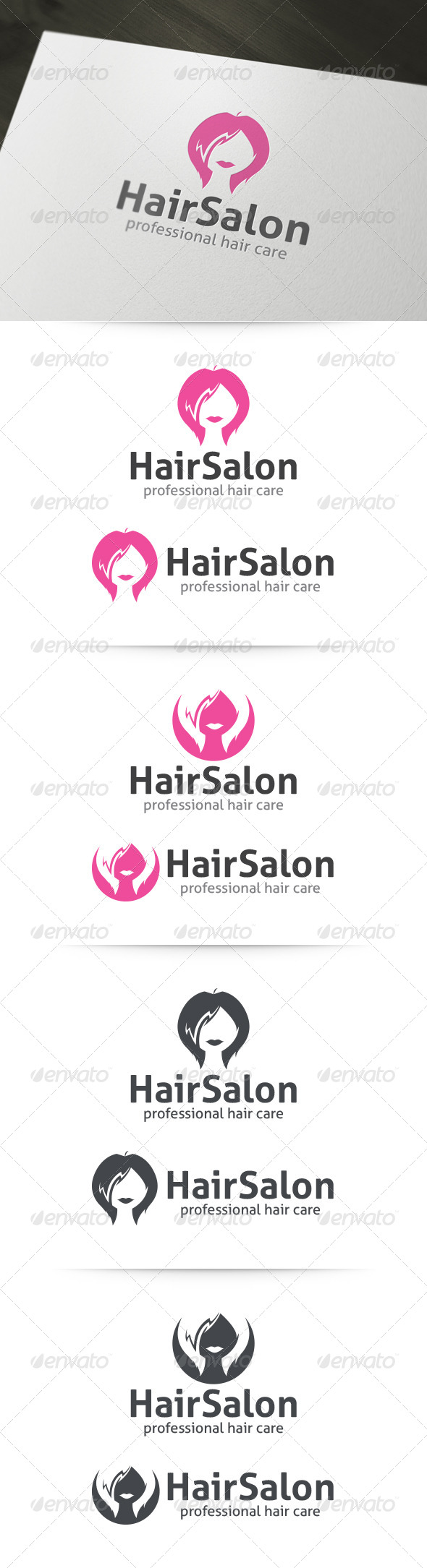 Hair Salon Logo Template - Humans Logo Templates