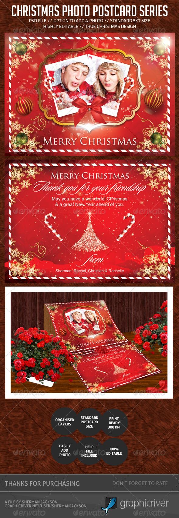 Christmas Holiday Photo Postcard - Holiday Greeting Cards