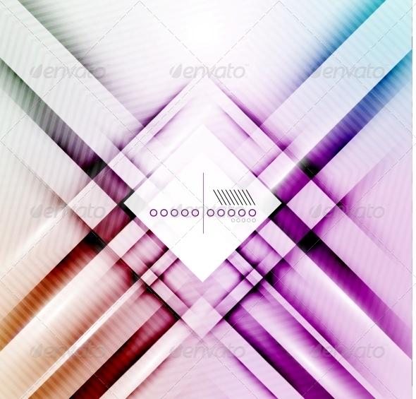 Blur Lines Geometric Shape Background - Backgrounds Decorative