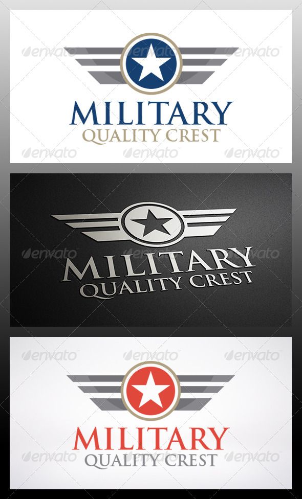 Military 1 Logo - Crests Logo Templates