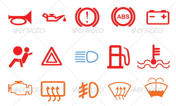 Car Control Lights - Technology Icons