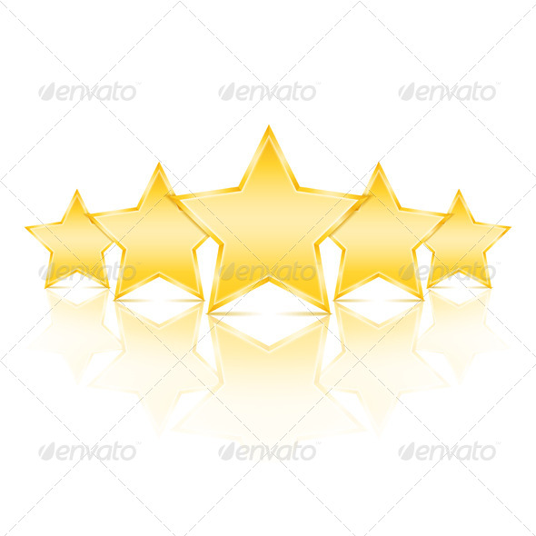 Five Stars - Objects Vectors