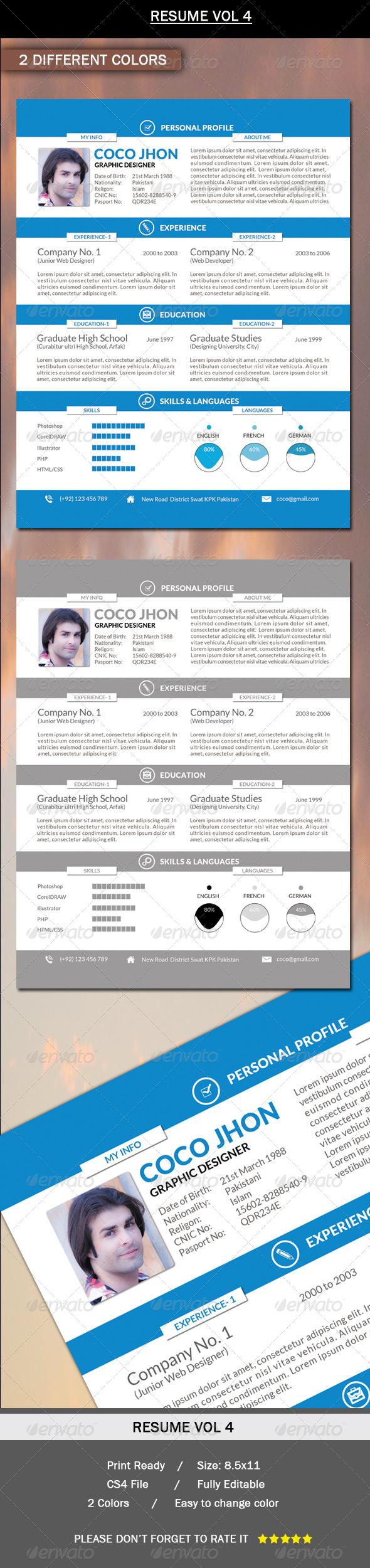 Resume Vol.4 - Resumes Stationery