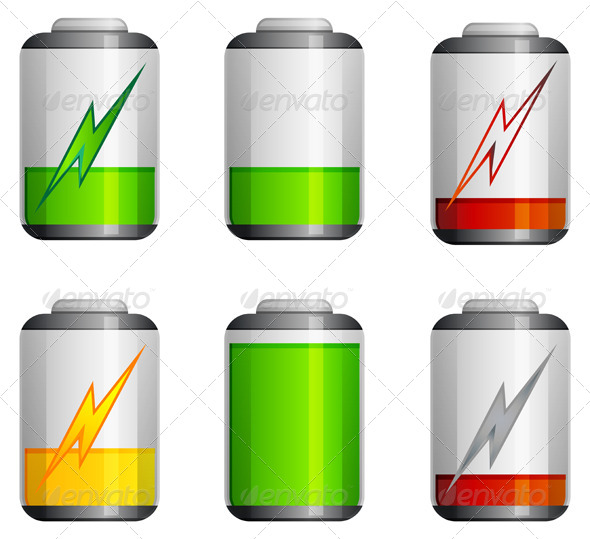 Battery Icon - Illustration - Man-made Objects Objects