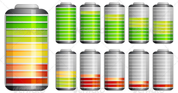 Battery Charging Icon - Illustration - Man-made Objects Objects