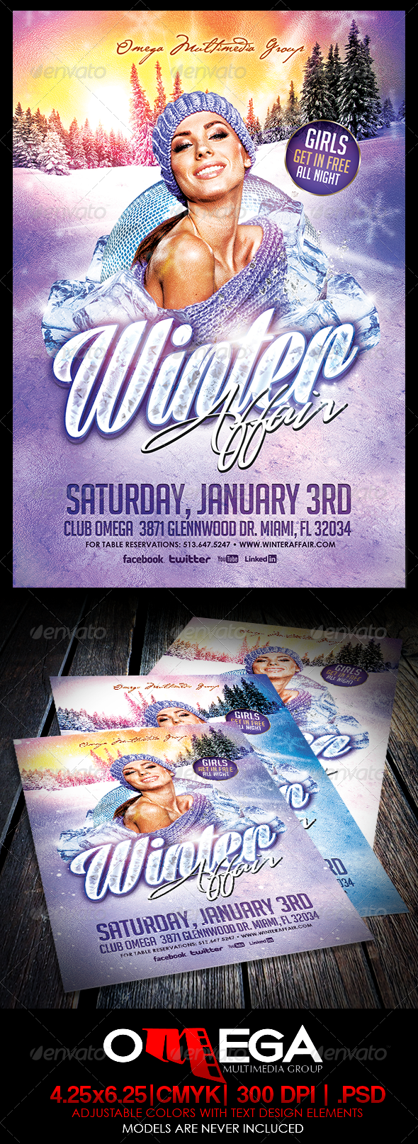 Winter Affair - Events Flyers