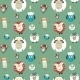 Seamless Pattern of Cartoon Funny Sheeps - GraphicRiver Item for Sale