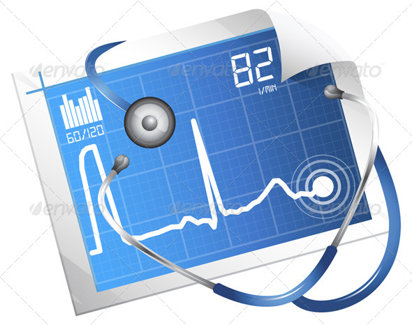 ECG Monitoring - Illustration - Health/Medicine Conceptual