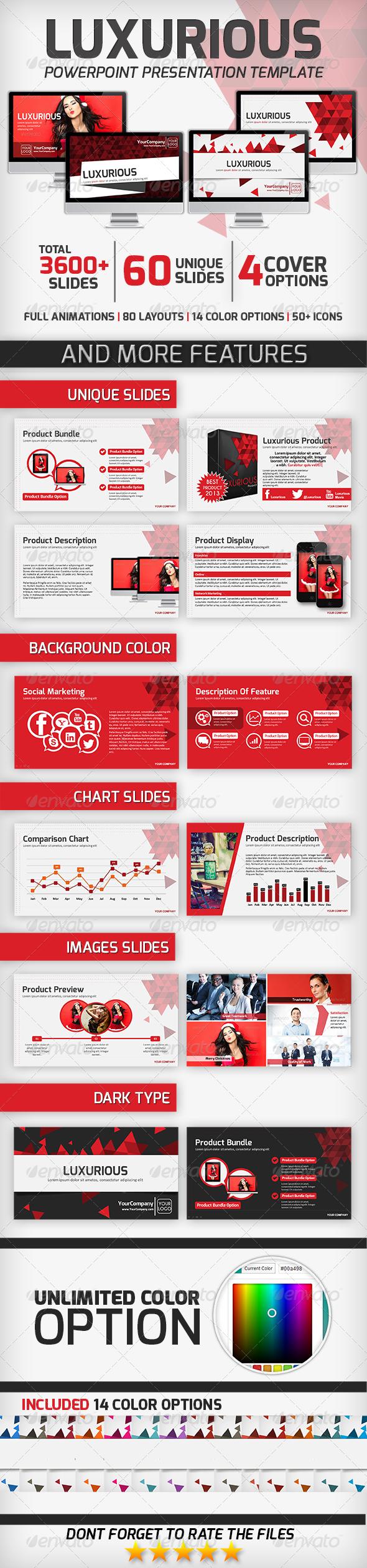 Luxurious PowerPoint Presentation Template - Business PowerPoint Templates