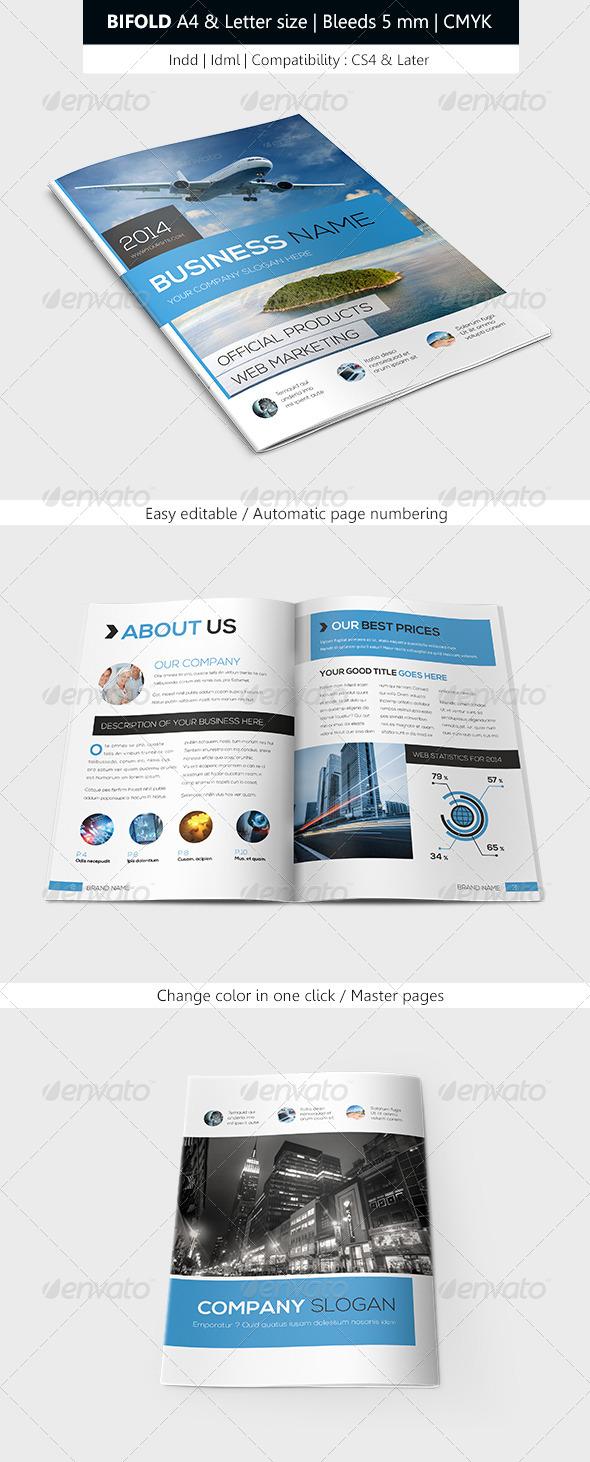 Bifold Business Brochure Template - Corporate Brochures