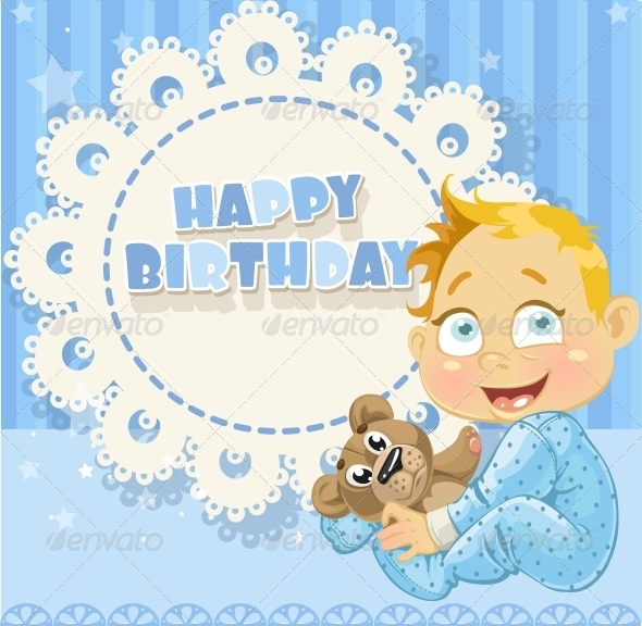 Happy Birthday Blue Openwork Card  - Birthdays Seasons/Holidays