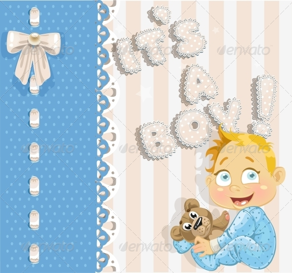"""It's a Boy"" - Announcement Card - Birthdays Seasons/Holidays"