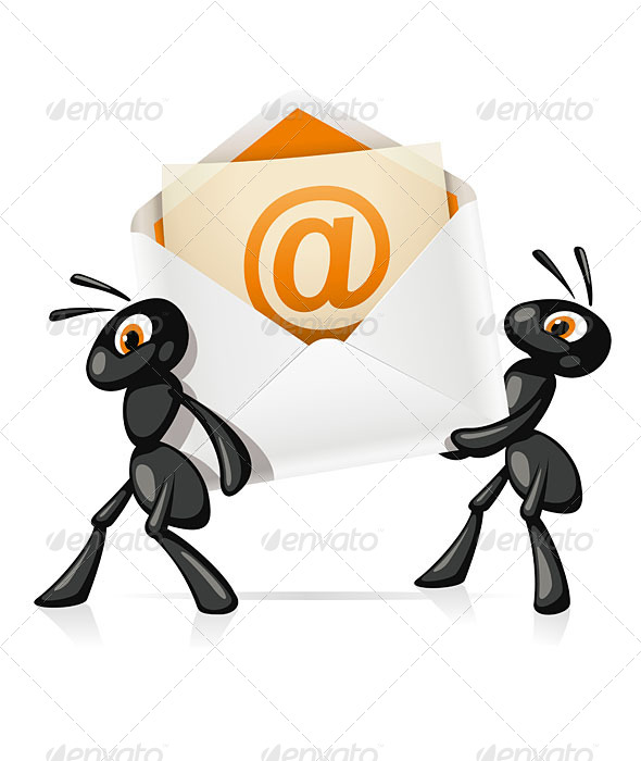 Ants e-Mail - Animals Characters
