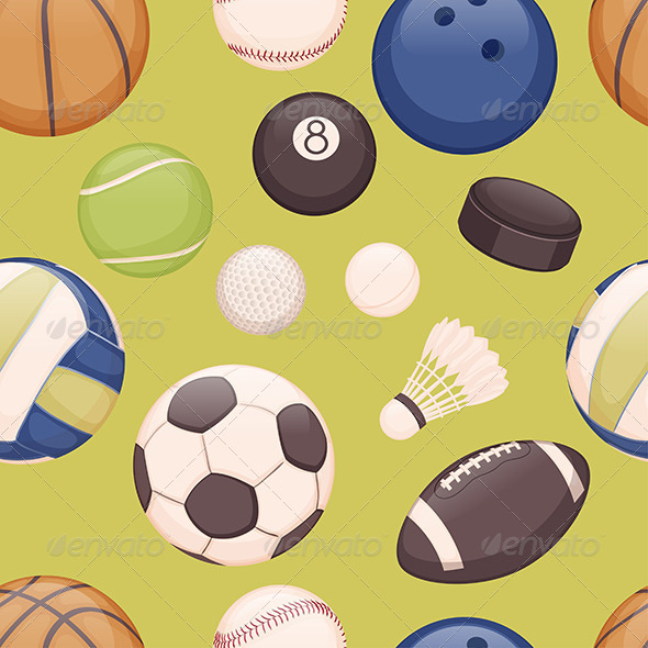 Balls Background - Sports/Activity Conceptual