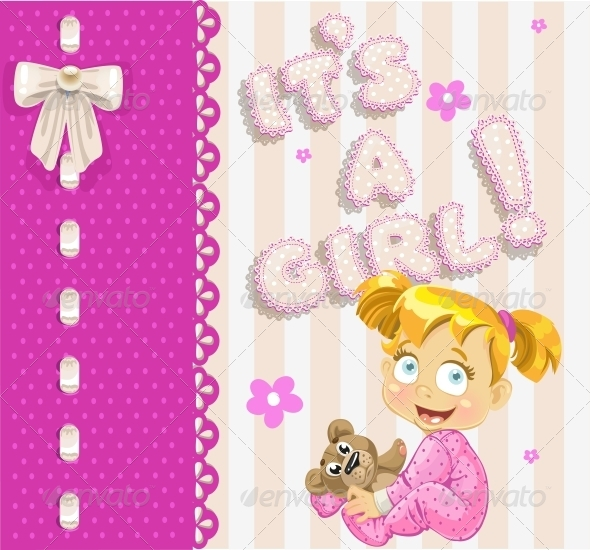 """It's a Girl"" - Openwork Card - Birthdays Seasons/Holidays"