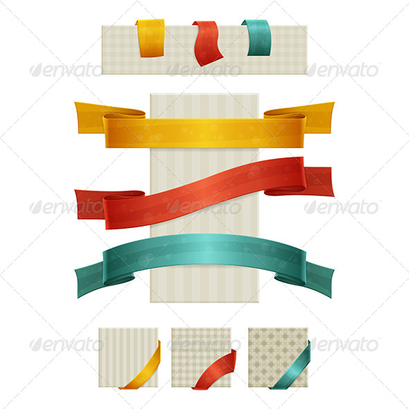 Ribbons - Web Elements Vectors