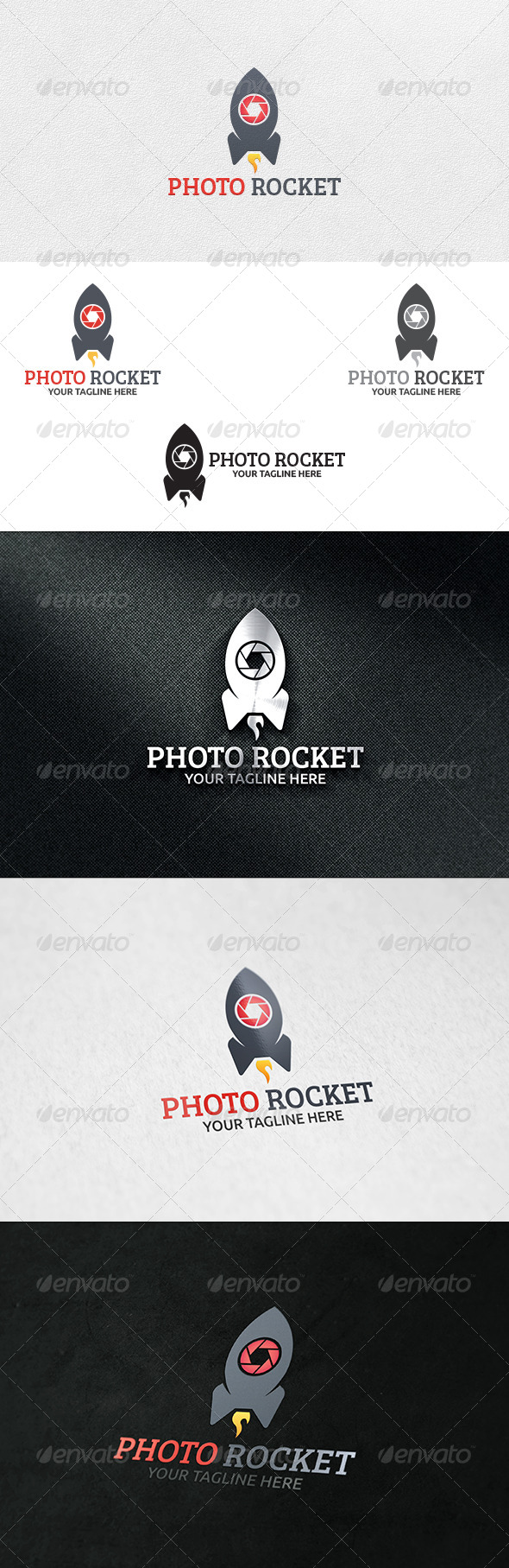 Photo Rocket - Logo Template - Objects Logo Templates
