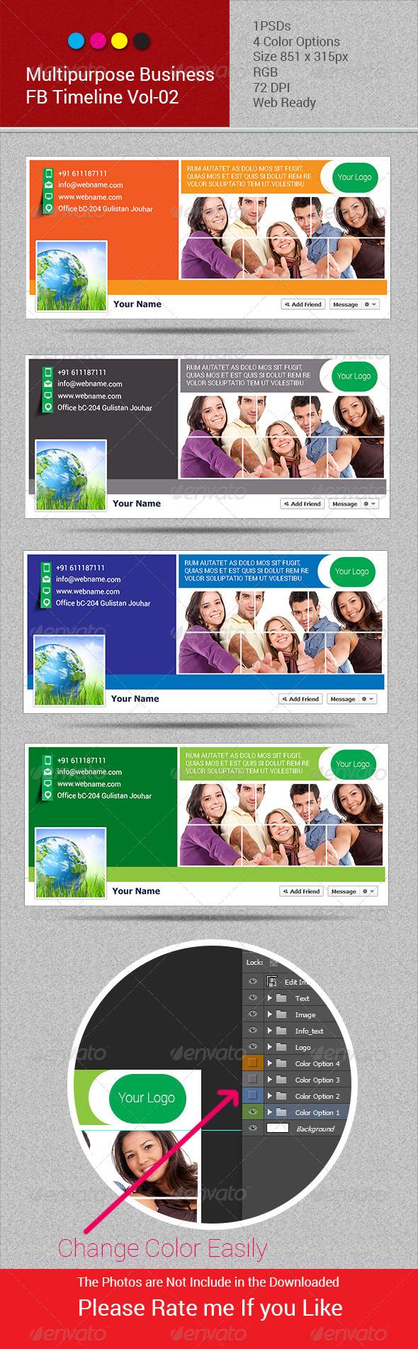 Multipurpose Business FB Timeline Vol-02 - Facebook Timeline Covers Social Media