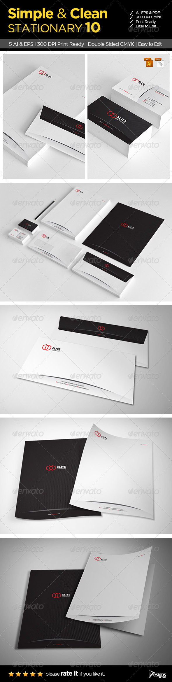 Simple and Clean Stationary 10 - Stationery Print Templates