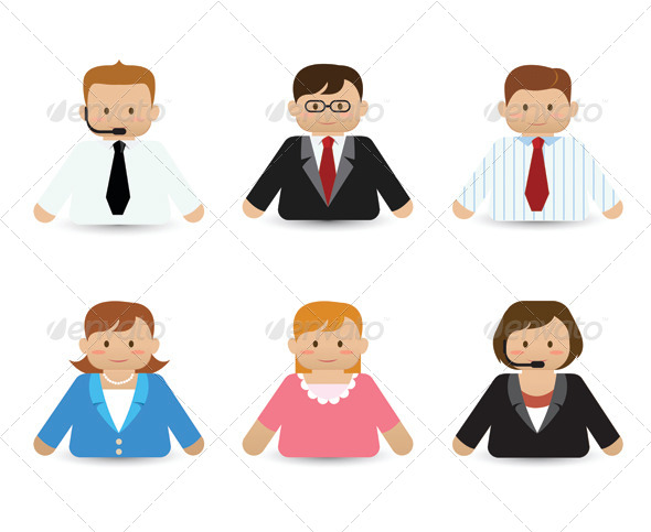Set of Business People Icons - People Characters
