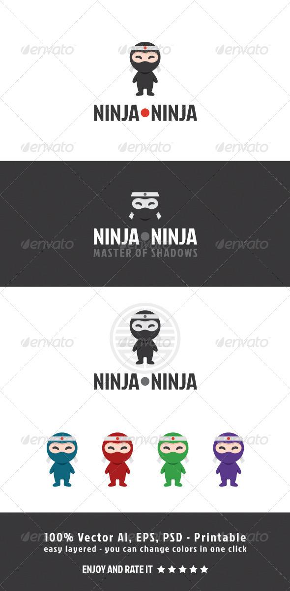 Ninja Ninja - Humans Logo Templates