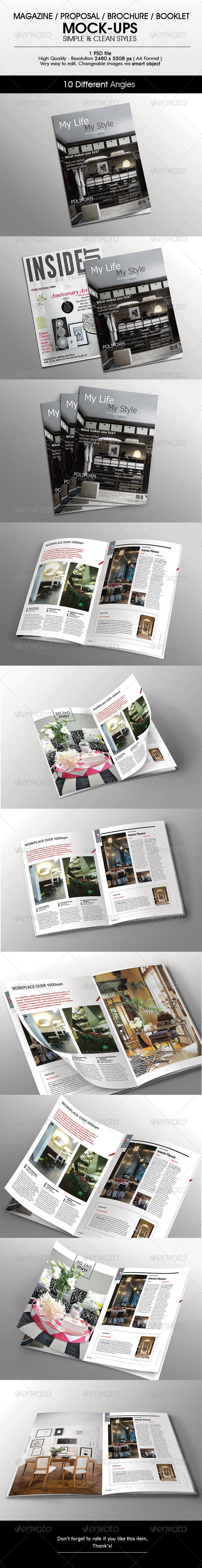 Magazine / Brochure Mock-Up - Magazines Print