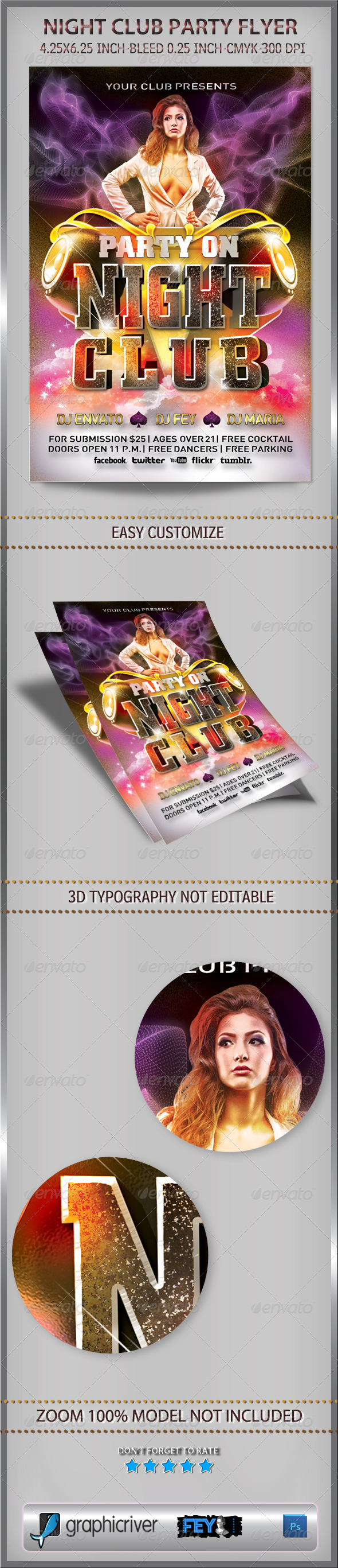 Night Club Party Flyer - Flyers Print Templates