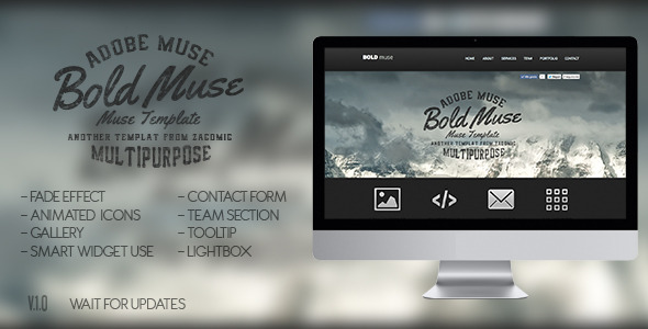 Bold Muse Parallax Template - Corporate Muse Templates
