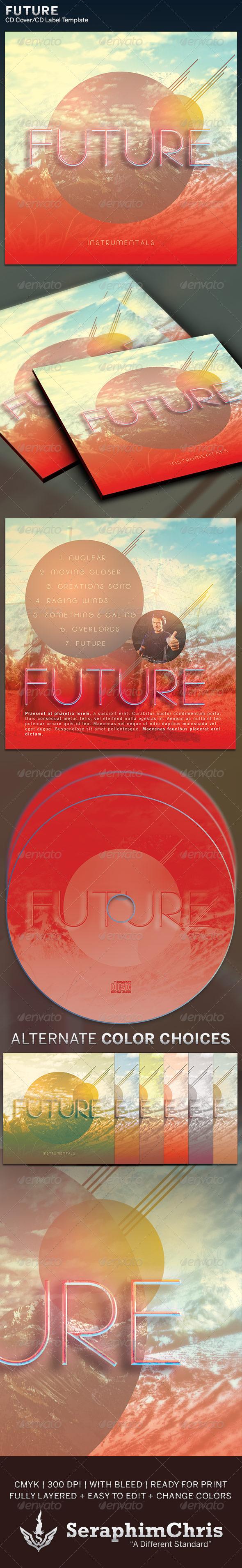 Future: CD Cover Artwork Template - CD & DVD Artwork Print Templates