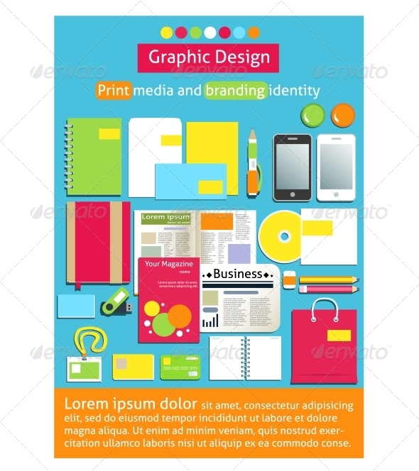 Graphic Design Print Media and Branding Identity - Concepts Business