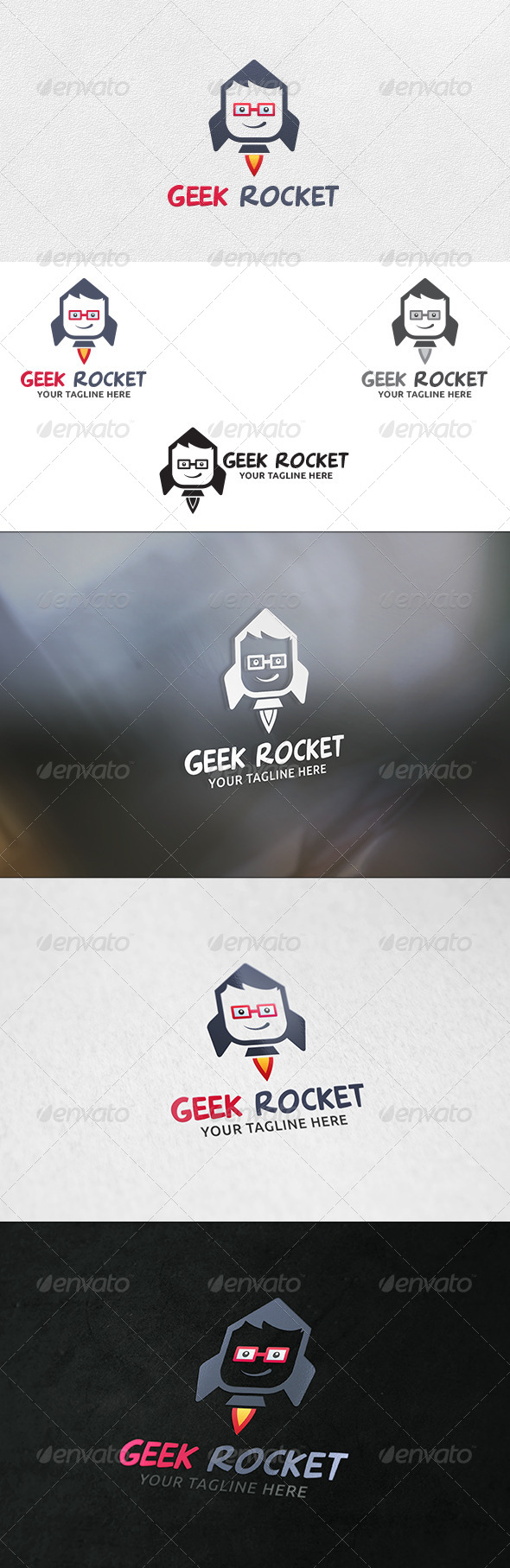 Geek Rocket - Logo Template - Humans Logo Templates