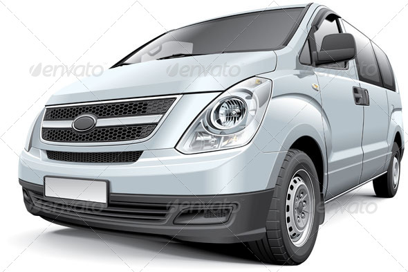 Korean Light Commercial Vehicle - Vectors