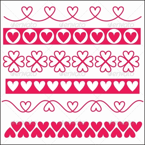 Ornaments with Hearts - Borders Decorative