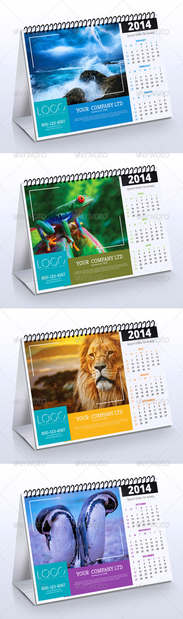 2014 Desk Calendar Vol.2 - Calendars Stationery