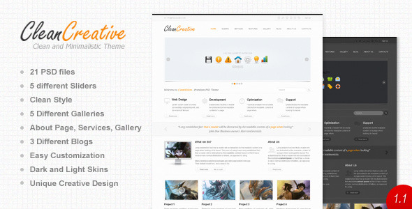 Free Download Clean Creative Nulled Latest Version