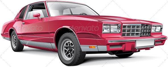 Vintage American Coupe - Vectors